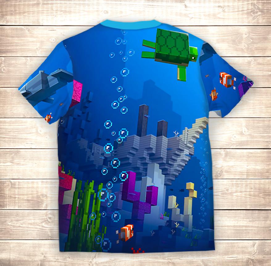 Футболка 3D Майнкрафт Підводний світ 2020
