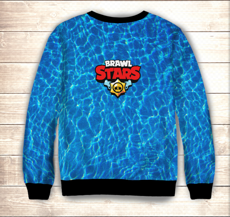 Світшот 3D Leon Shark  Brawl Stars