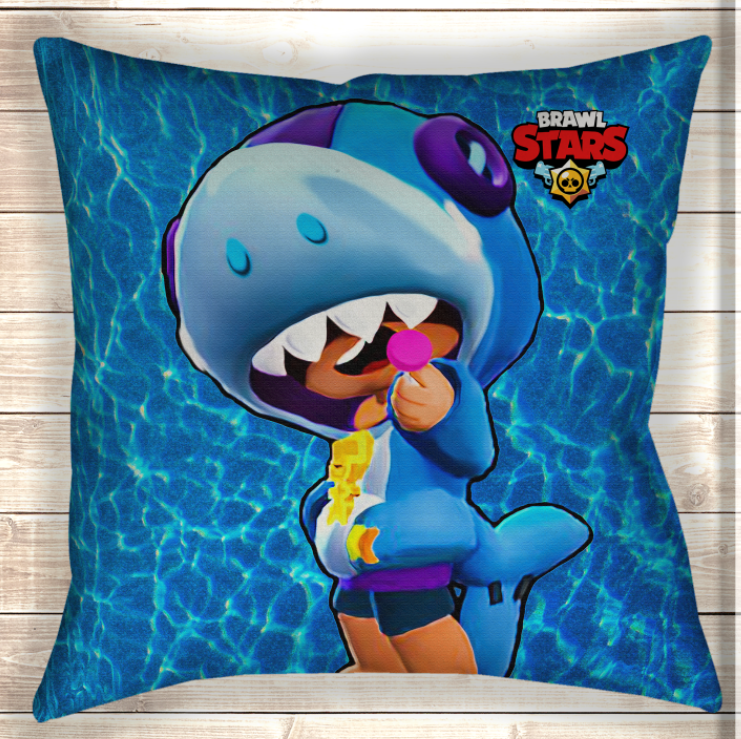 Подушка Leon Shark Brawl Stars