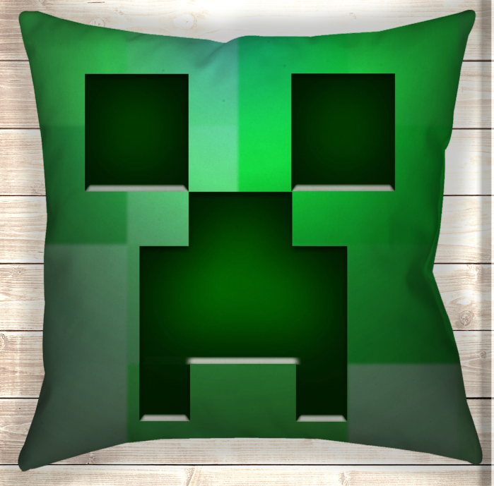 Подушка Minecraft Creeper Logo