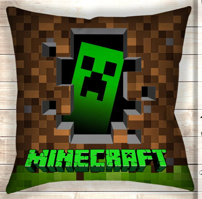 Подушка Minecraft Creeper