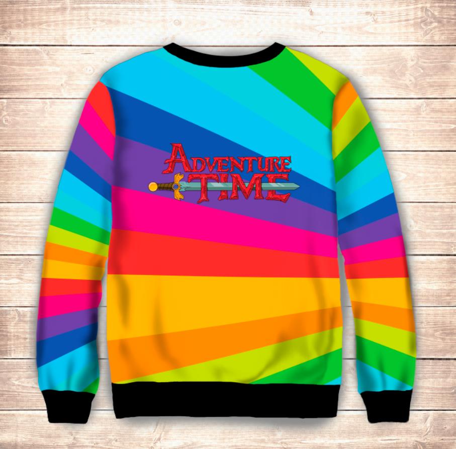 Свитшот 3D Adventure time Jake / Свитшот Радужный Джейк
