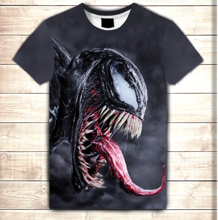 Футболка з 3D принтом Venom Scream. Дорослі і дитячі розміри
