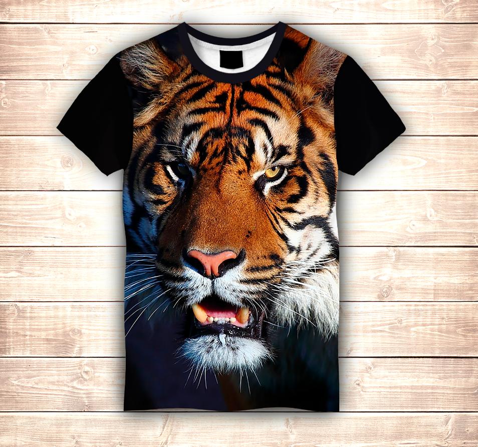 Футболка 3D Tiger (Футболка Big Face)