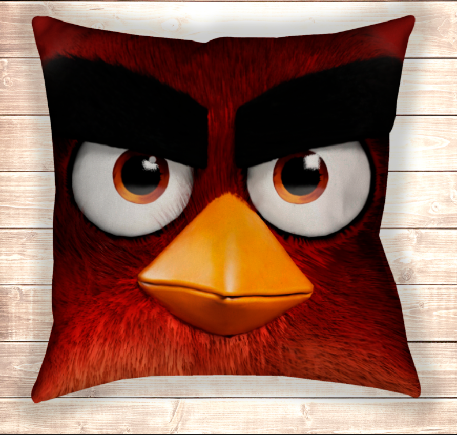 Подушка Angry Birds Red