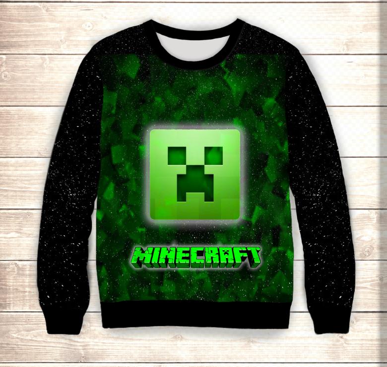 Світшот дитячий 3D Minecraft/Свитшот Майнкрафт Лого