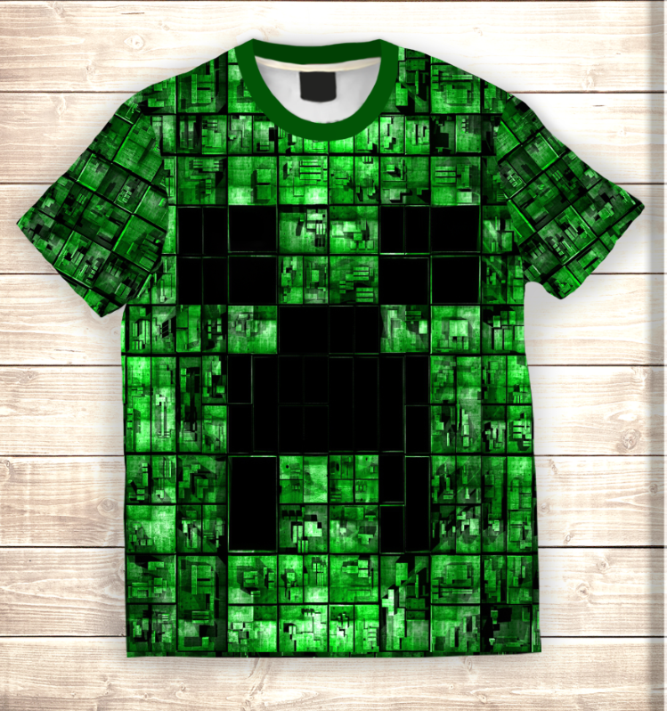 Футболка 3D Майнкрафт - Minecraft my life
