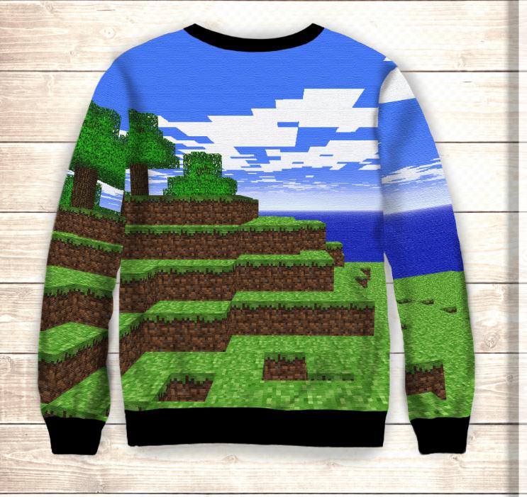 Світшот / Свитшот 3D World Minecraft / Мир Майнкрафт