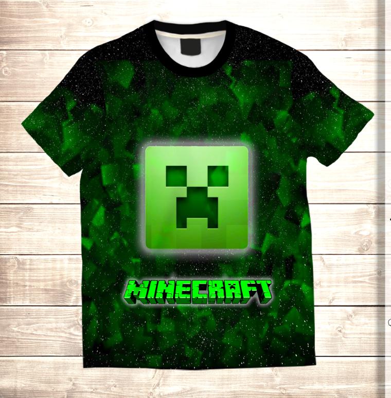 Футболка 3D дитяча MINECRAFT Logo Neon