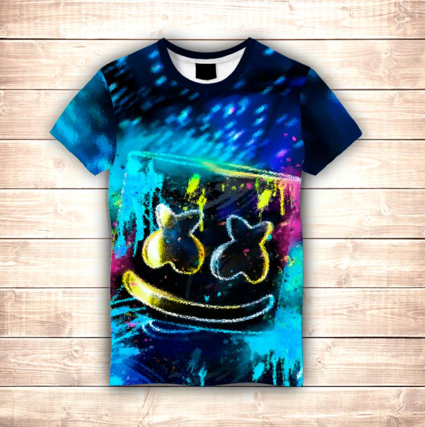 Футболка 3D DJ Marshmello Rain
