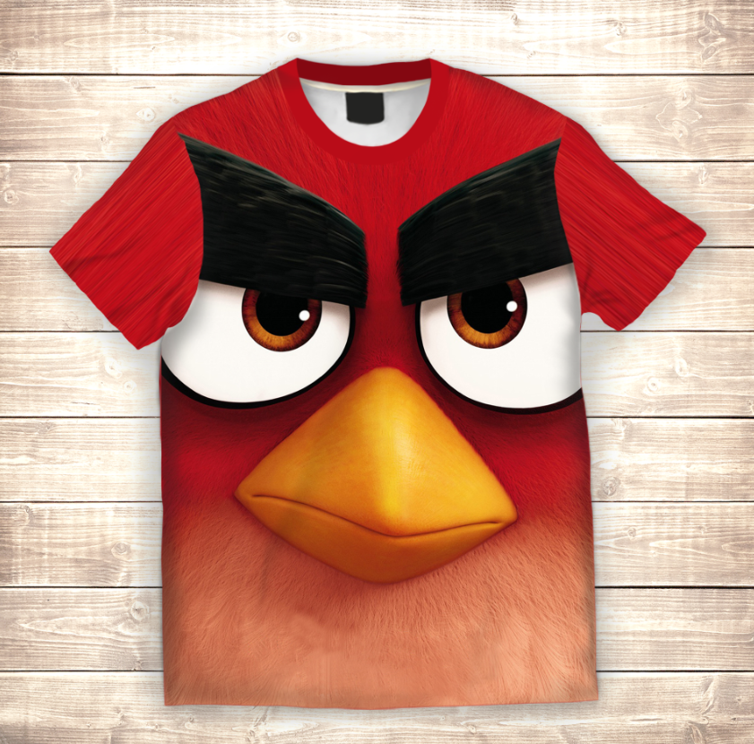 Футболка 3D Angry birds Red