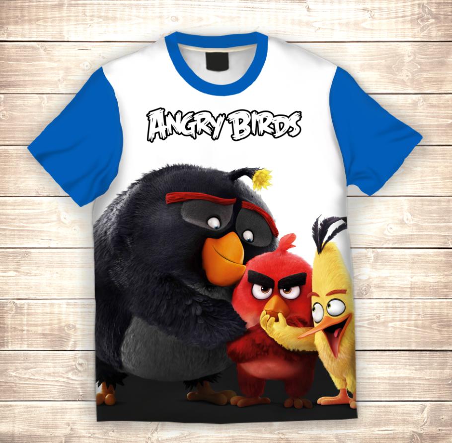 Футболка 3D Angry birds Три товарища
