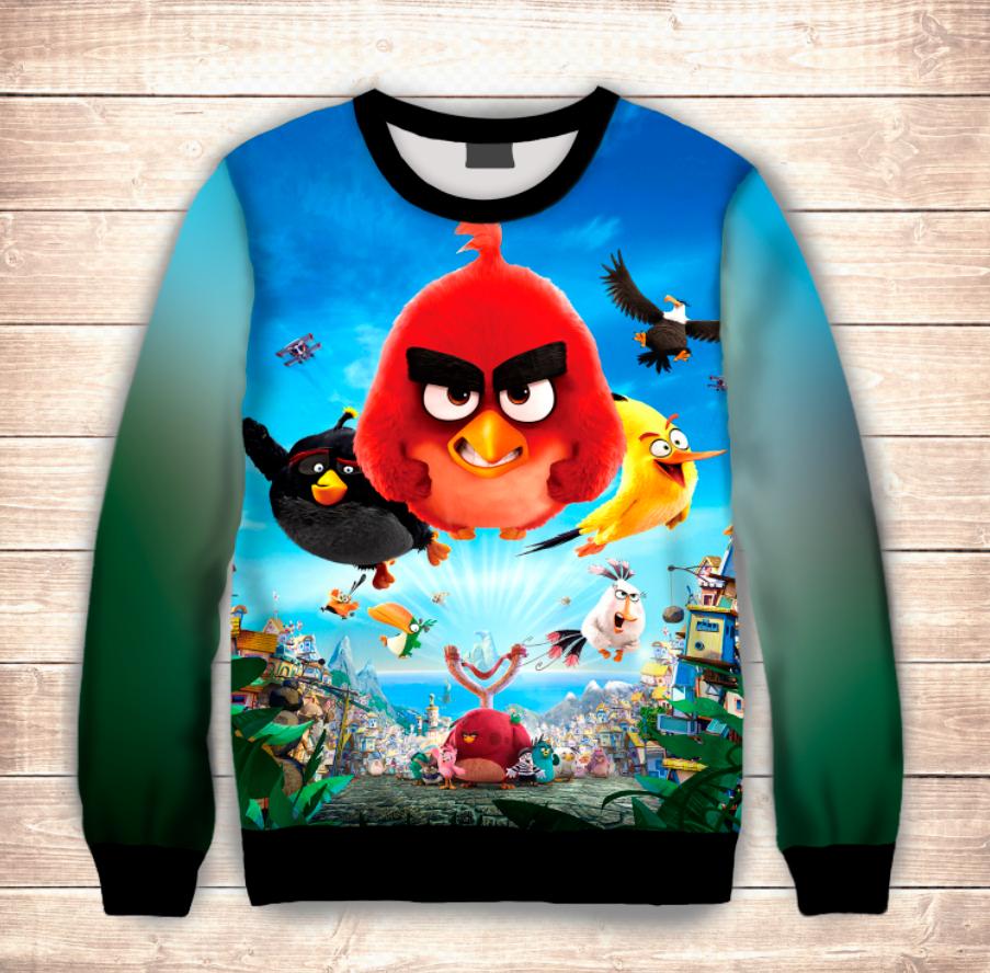 Світшот дитячий 3D Small Angry birds Red