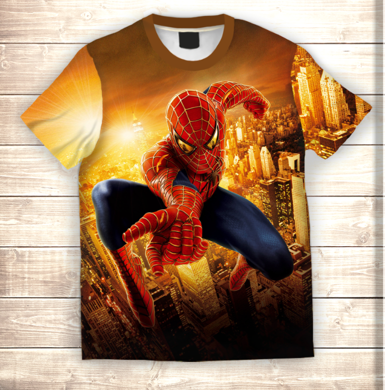 Футболка 3D Spiderman in Gold city