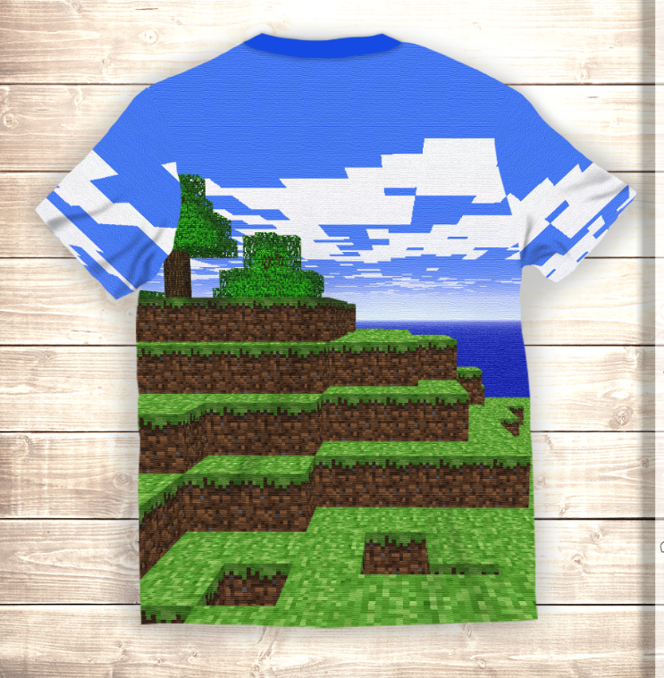 Футболка 3D Minecraft Worlds