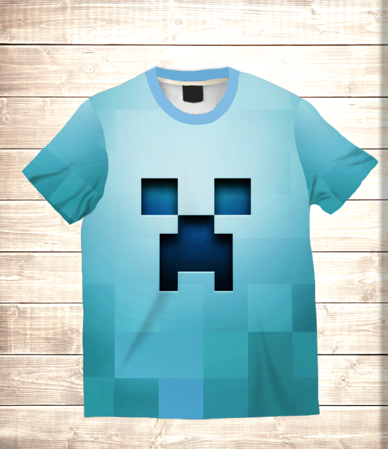 Футболка 3D дитяча MINECRAFT BLUE LOGO