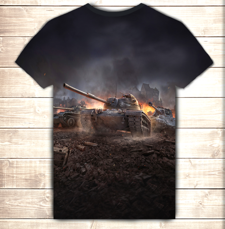 Футболка 3D World of tanks