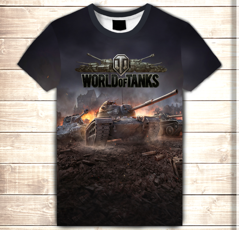 Футболка 3D World of tanks