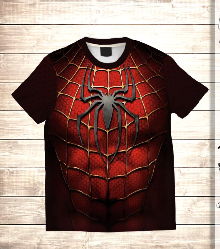 Футболка 3D Спайдермен - герой