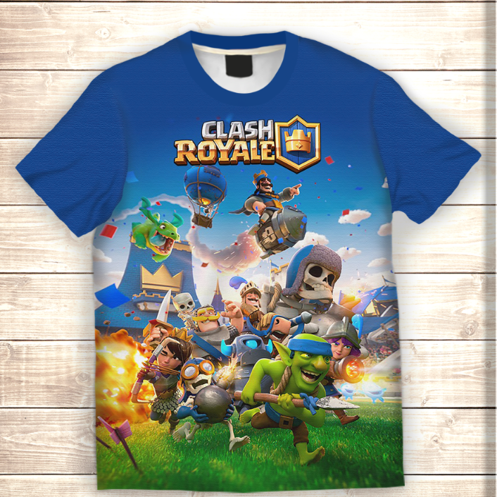 Футболка 3D дитяча Clash Royale Attack