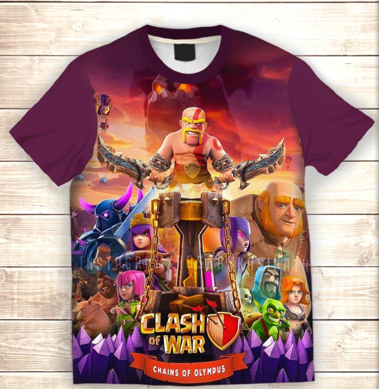 Футболка 3D дитяча Clash of Clans (War)