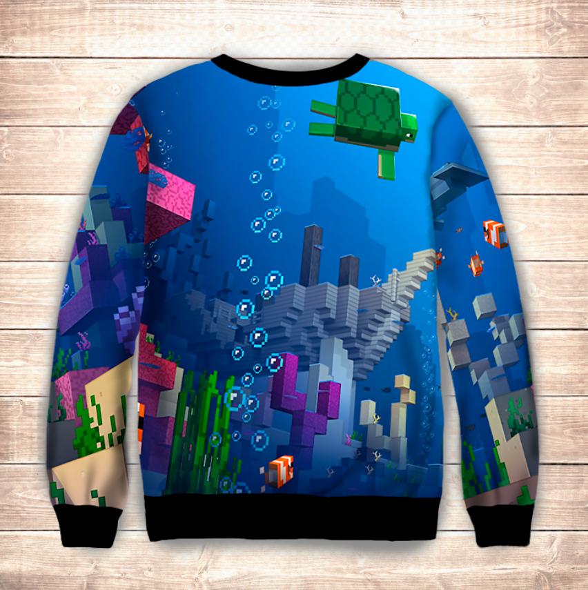 Світшот 3D MINECRAFT / Майнкрафт Підводний