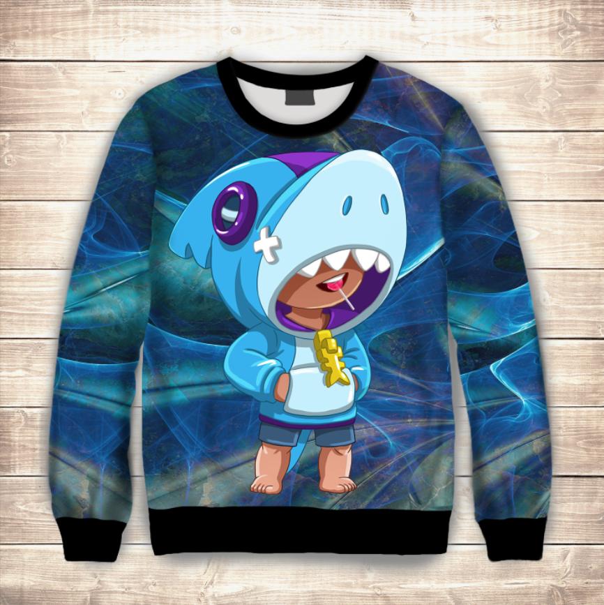 Світшот (толстовка) дитячий 3D Leon Shark / Леон Акула