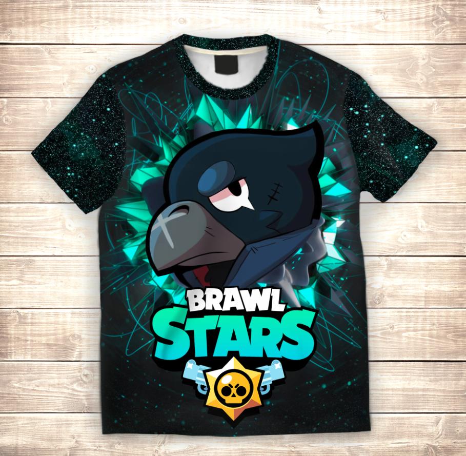 Футболка 3D дитяча CROW FACE Brawl Stars