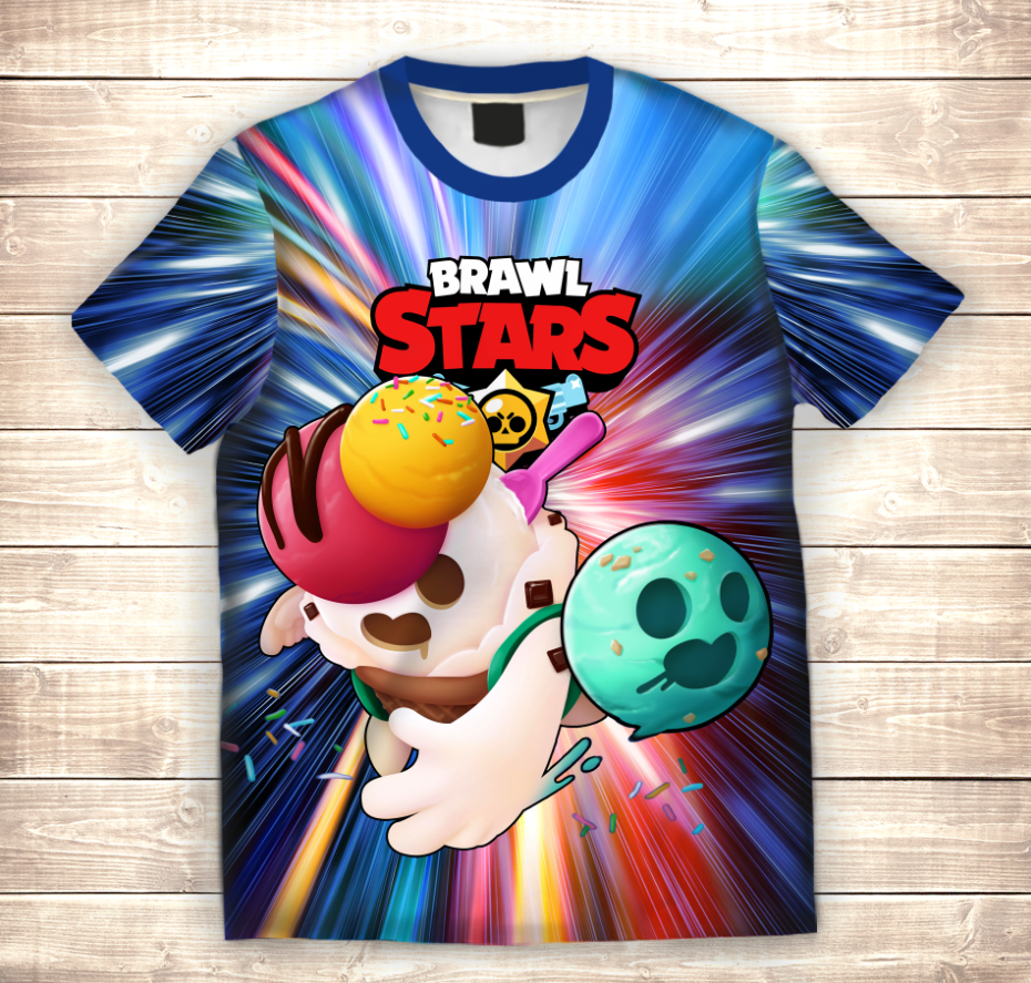 Футболка 3D дитяча SPIKE ICE CREAM Brawl Stars