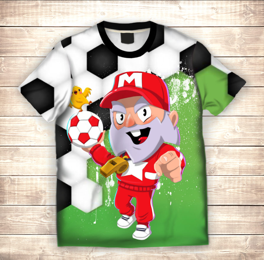 Футболка 3D дитяча Футболка 3D дитяча Динамайк тренер Brawl Stars