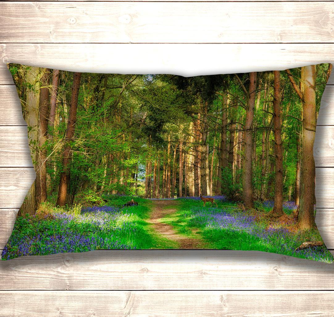 Подушка-картина Deer in spring forest 50х70см