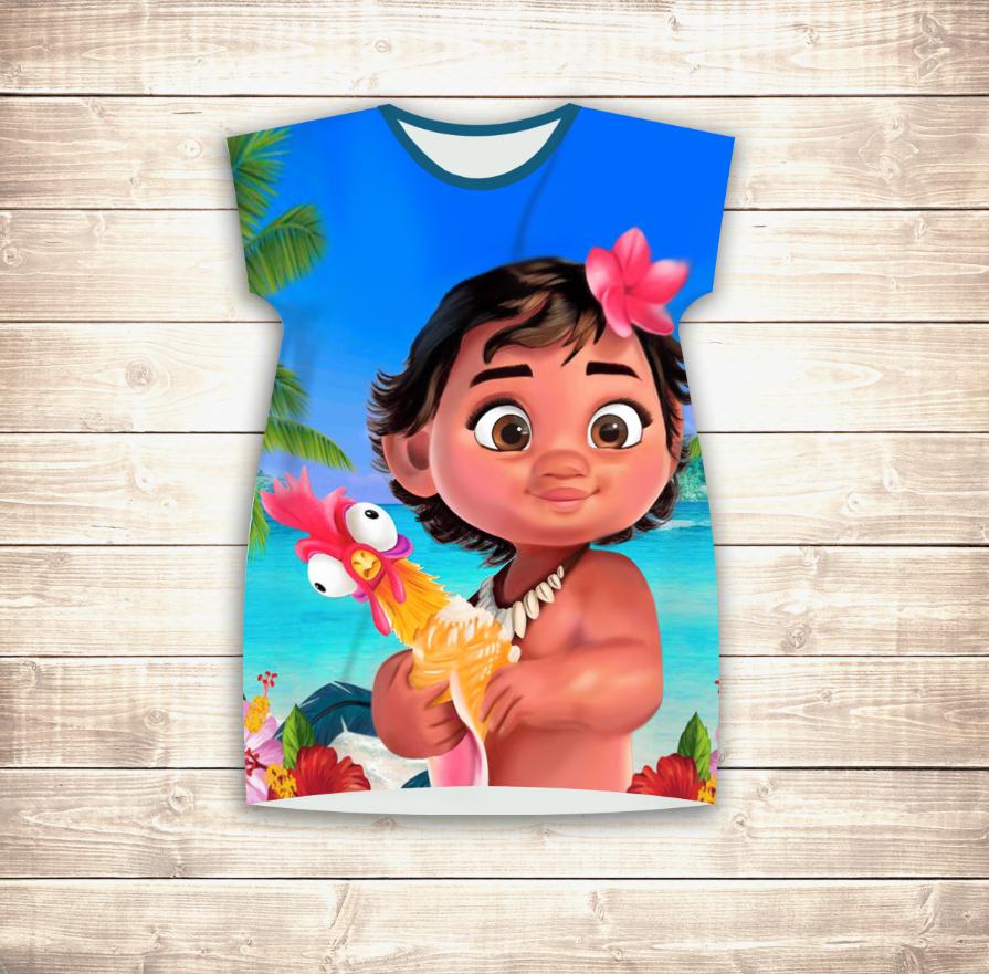 Плаття - туніка 3D для дівчат Маленька Моана