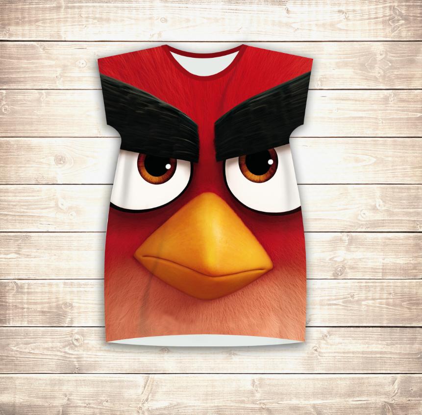 Плаття - туніка 3D для дівчат Angry Birds Red
