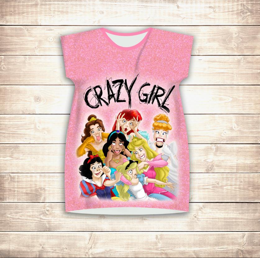 Плаття - туніка 3D для дівчат Crazy Girl
