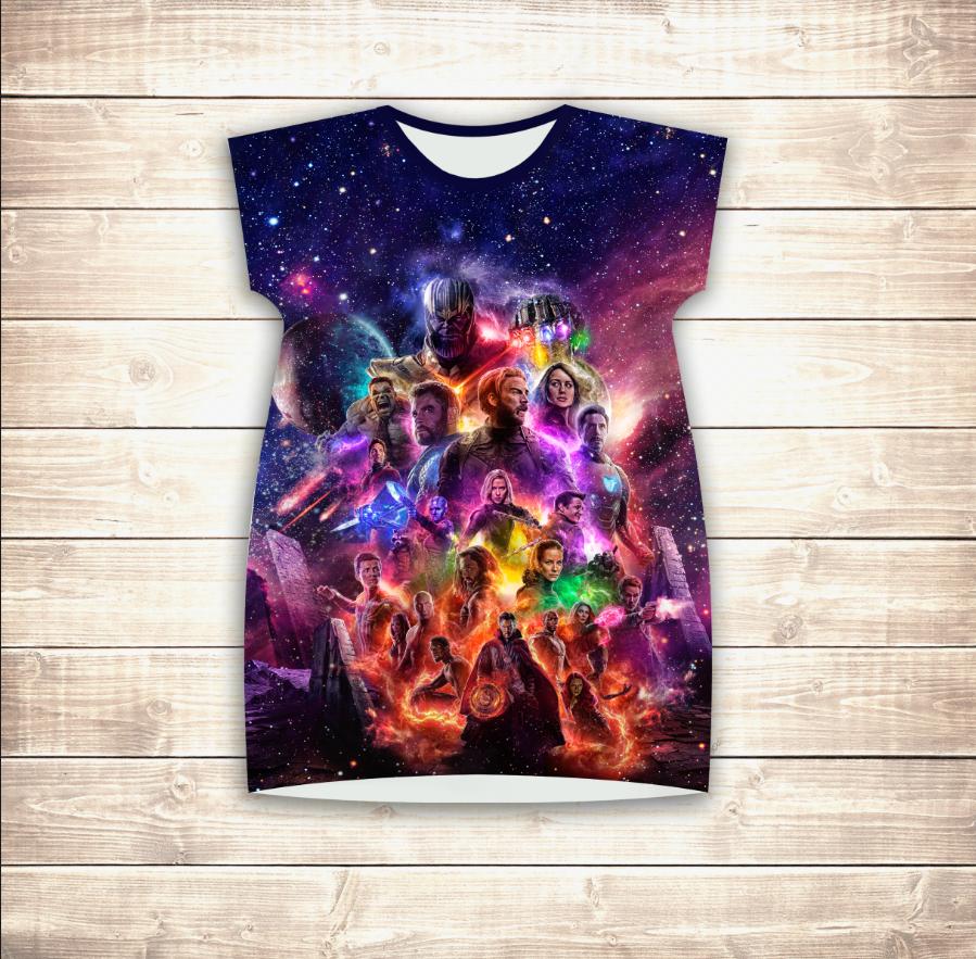 Плаття - туніка 3D Avengers (для дівчат і жінок)