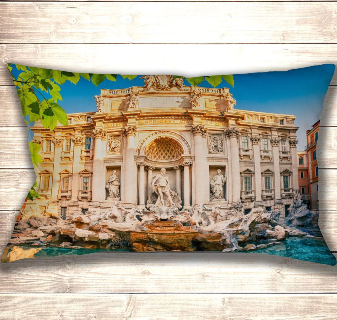 Подушка-картина Фонтан ді Треві в Римі 50х70см