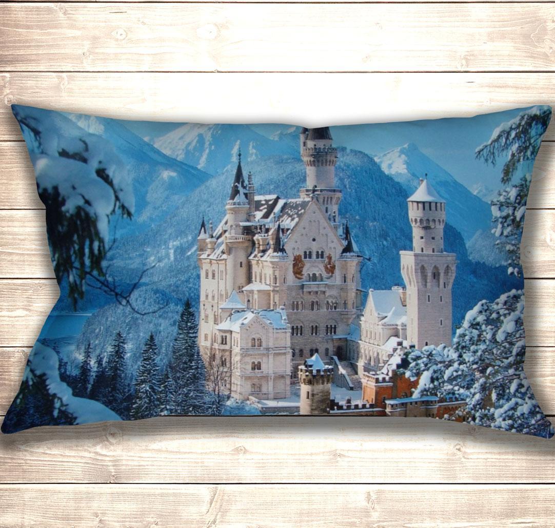 Подушка-картина Winter Neuschwanstein 50х70см