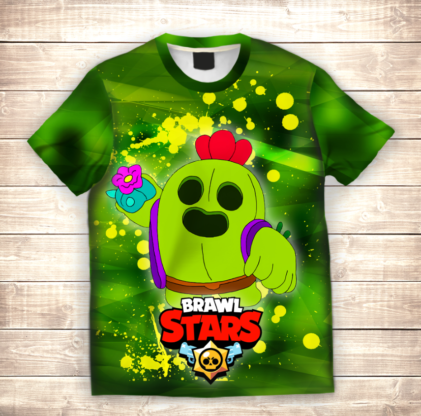 Футболка 3D дитяча SPIKE SKIN GREEN Brawl Stars