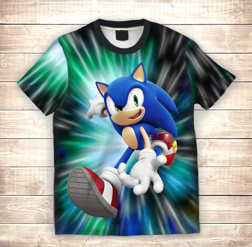 Футболка 3D Sonic Go!