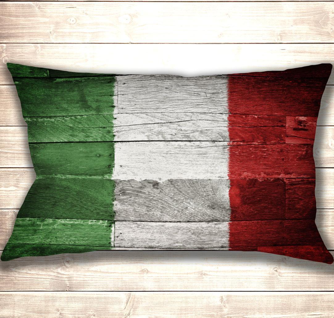 Подушка-картина Wooden flag of Italy 50х70см