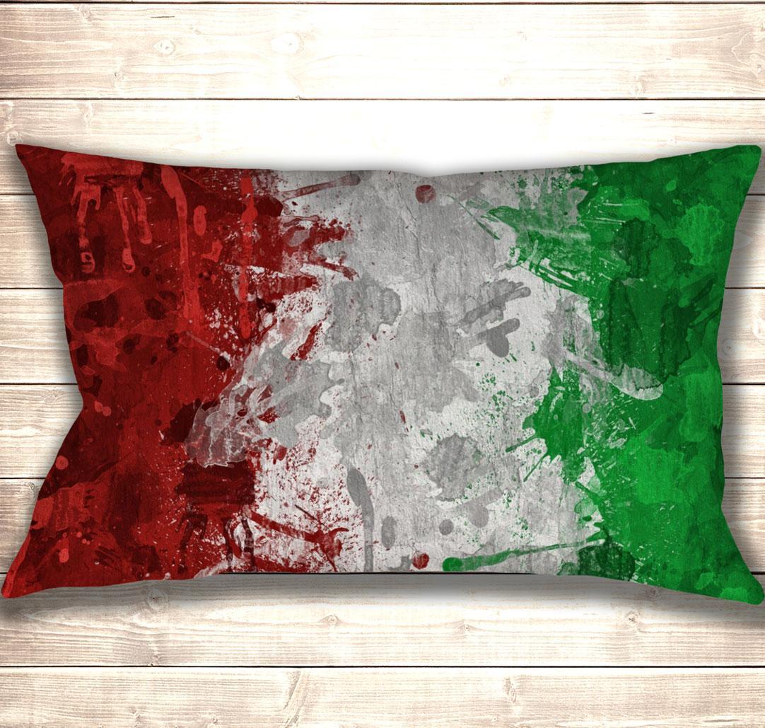 Подушка-картина Painted flag of Italy 50х70см