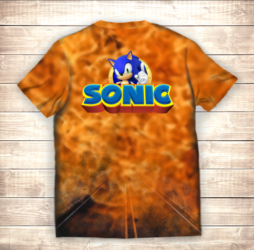 Футболка 3D Sonic Fire