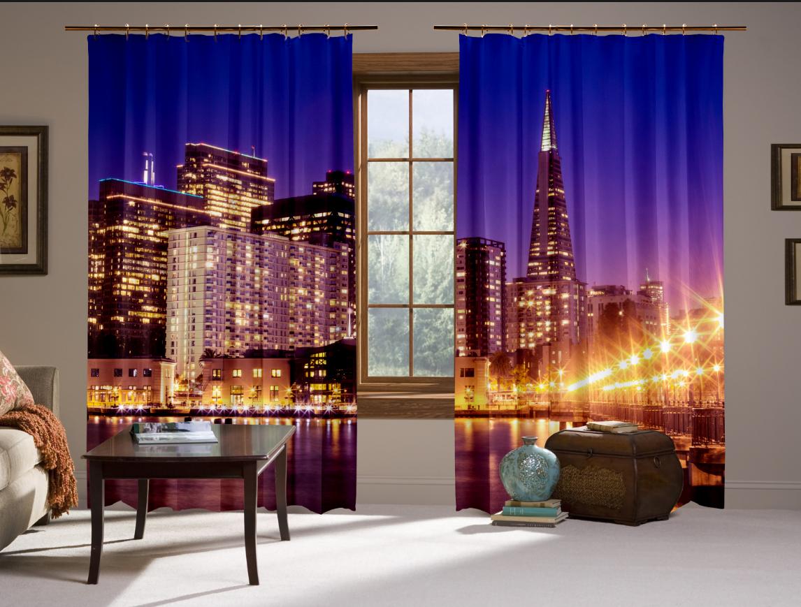Штори 3D Сан-Франциско (2 шт. комплект)