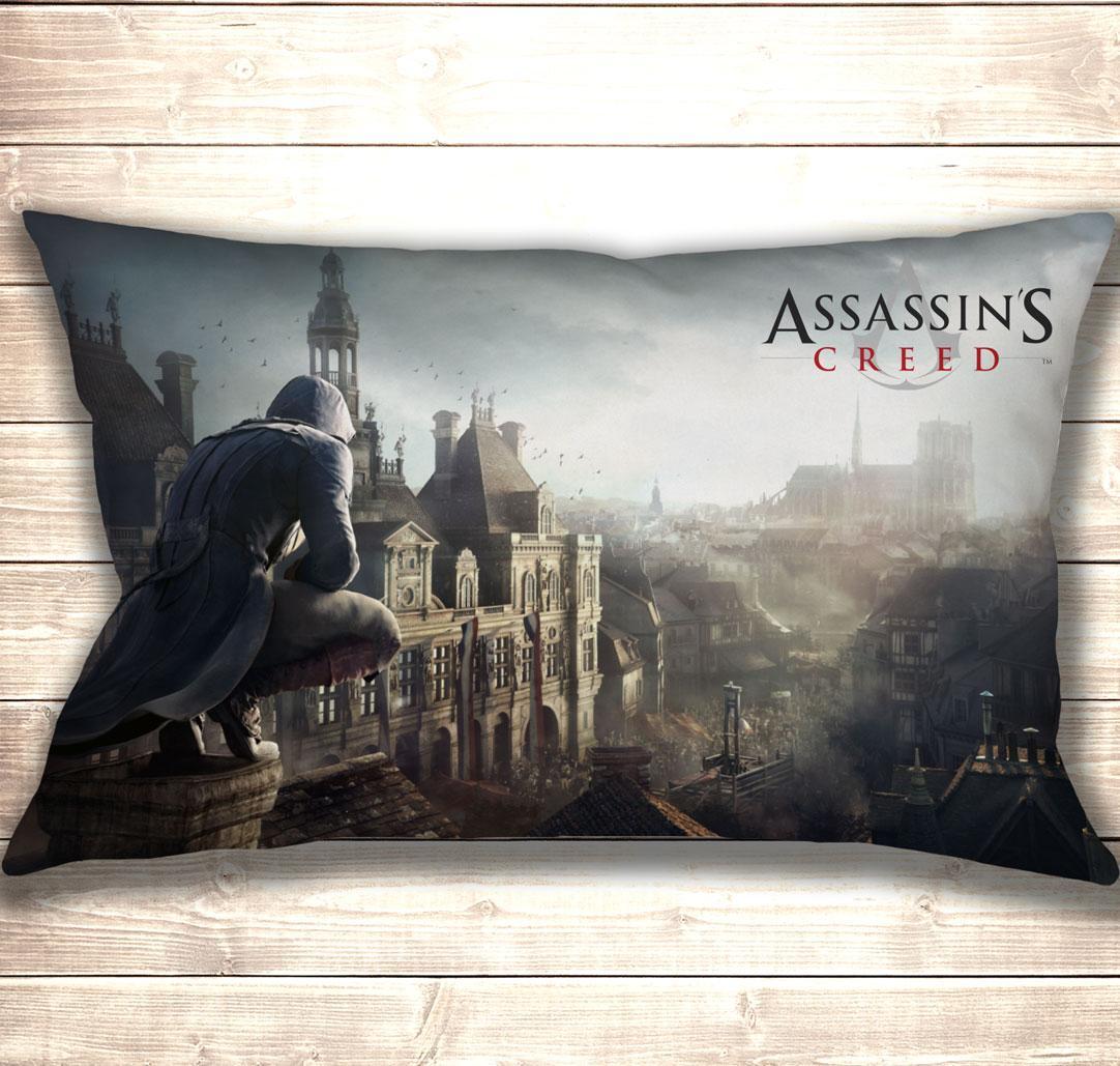 Подушка 3D Assasin's Creed City 50x70 см