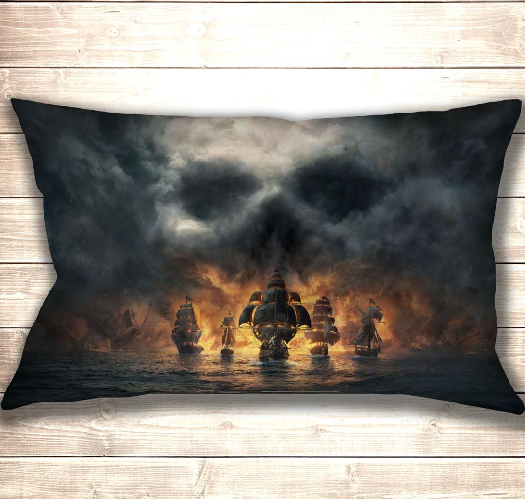 Подушка 3D Skull & Bones 50x70 см