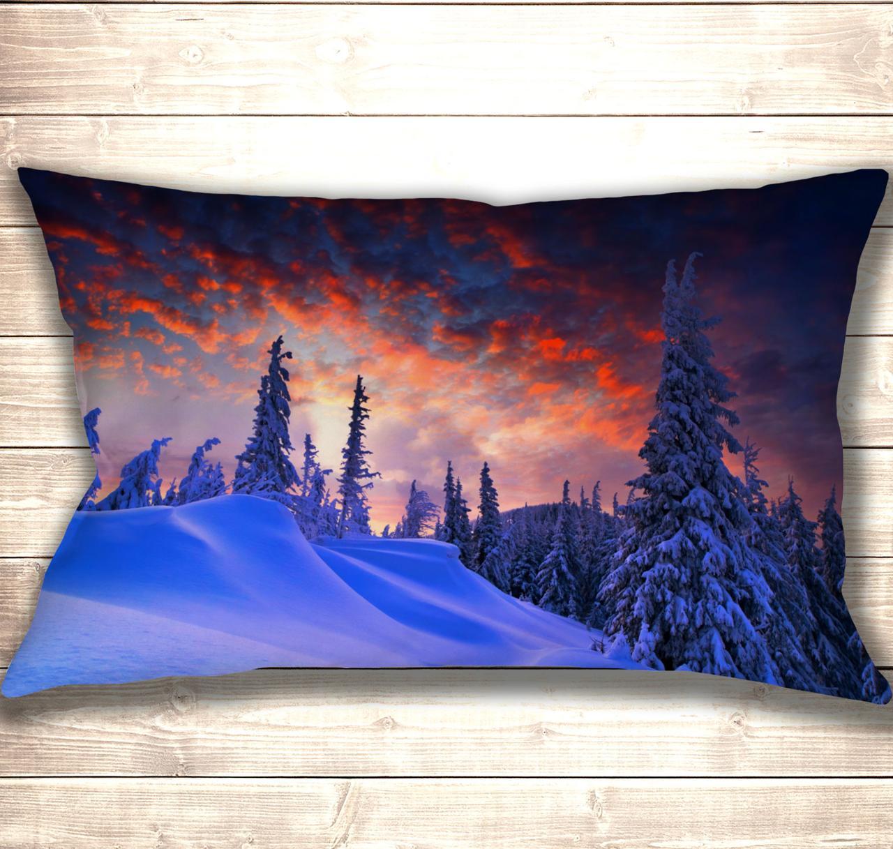 Подушка-картина Winter Sunrise 50х70см