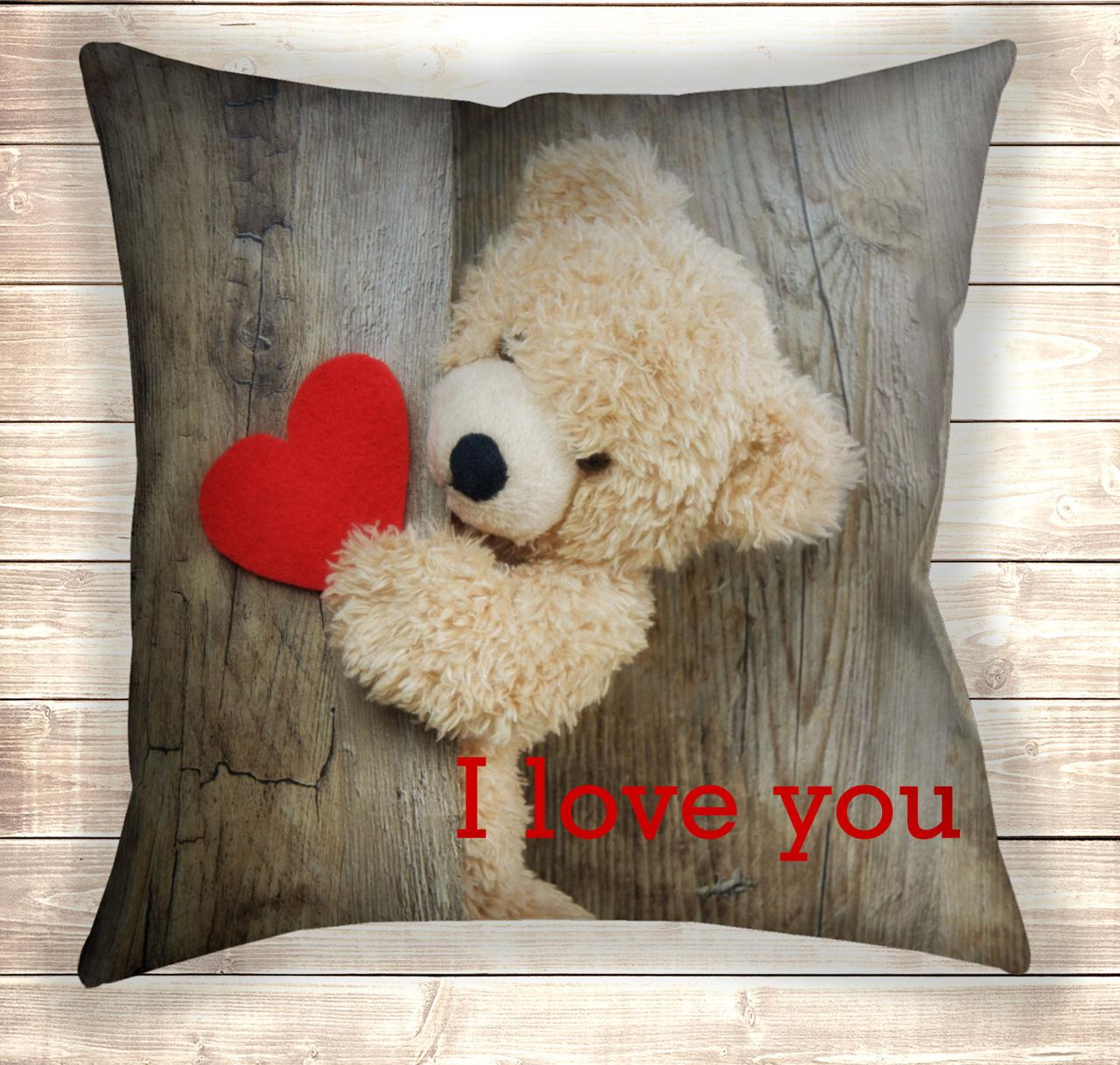 Подушка Teddy Bear I love you