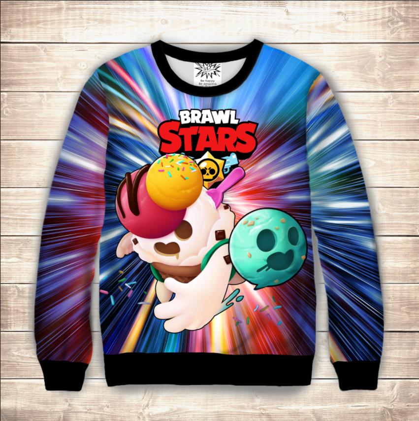 Свитшот Spike Ice cream Brawl Stars