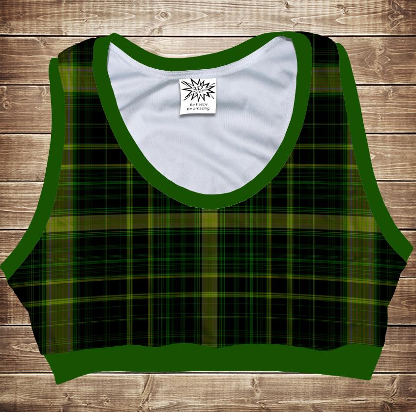 Топ спортивний 3D     Green tartan
