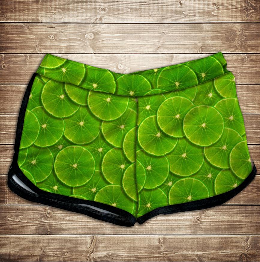 Шорти 3D принт жіночі -  green lime
